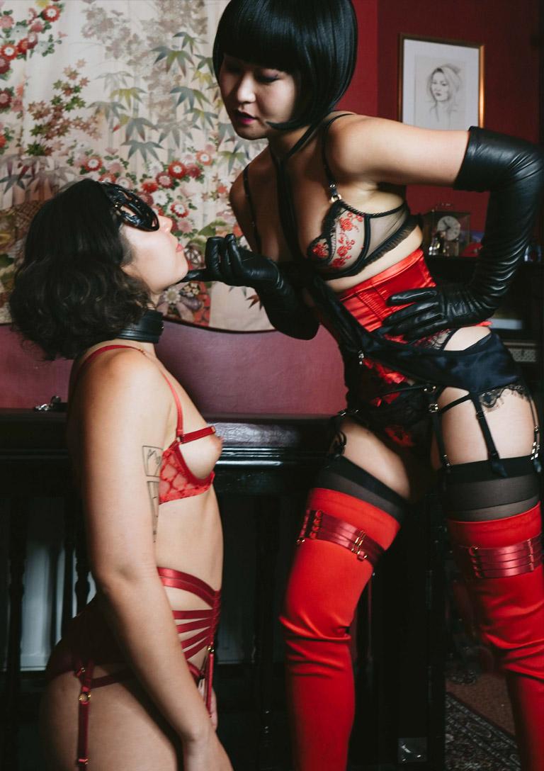 MissOpium London Asian Dominatrix Mistress Lingerie Slave Girl