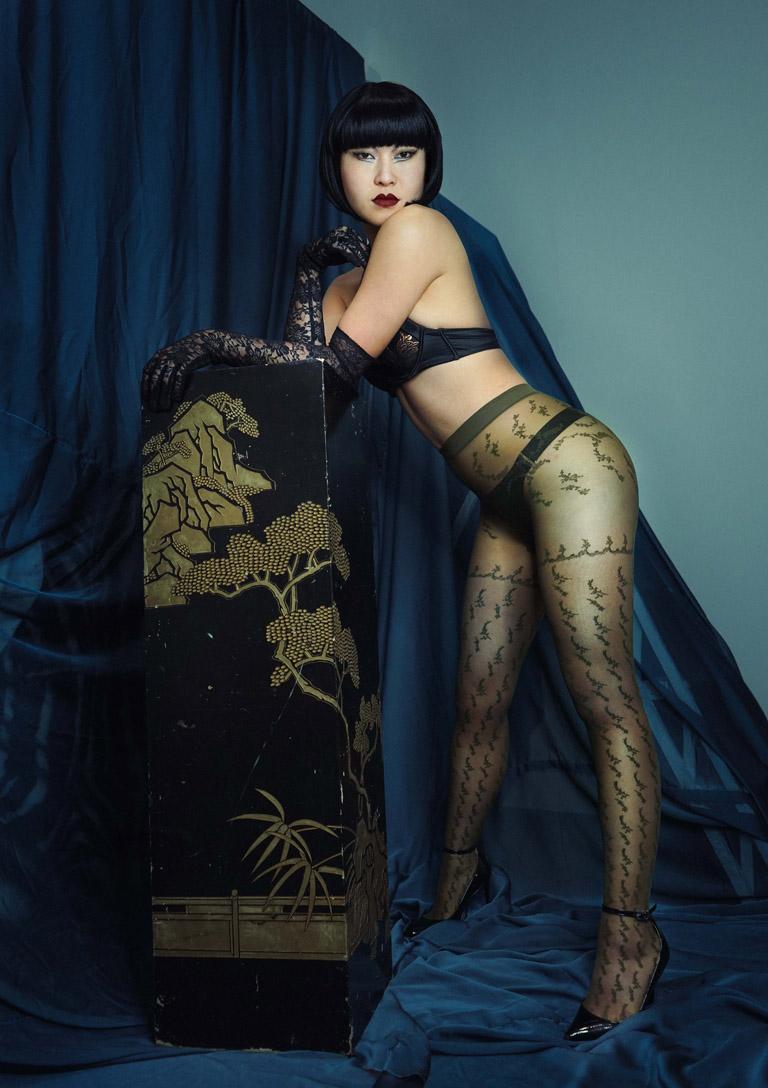 MissOpium London Asian Dominatrix Mistress Lingerie Stockings